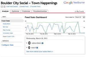 FeedBurner Death on Boulder City Social
