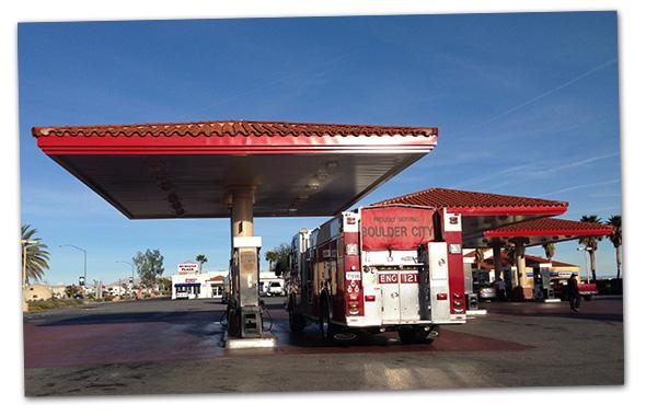 Fire Truck Fillup in Boulder City, Nevada