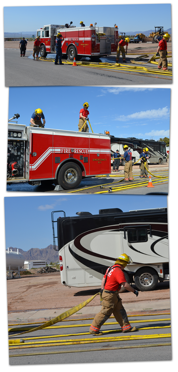 Firefighter Recruits in Boulder City, Nevada
