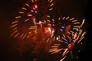 Fireworks in Boulder City, NV
