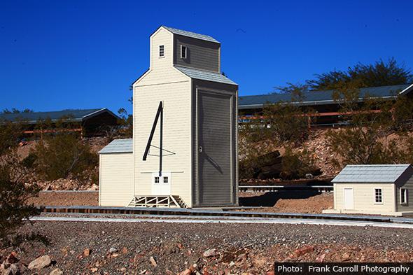 Scale Model Grain Elevator in Boulder City, Nevada