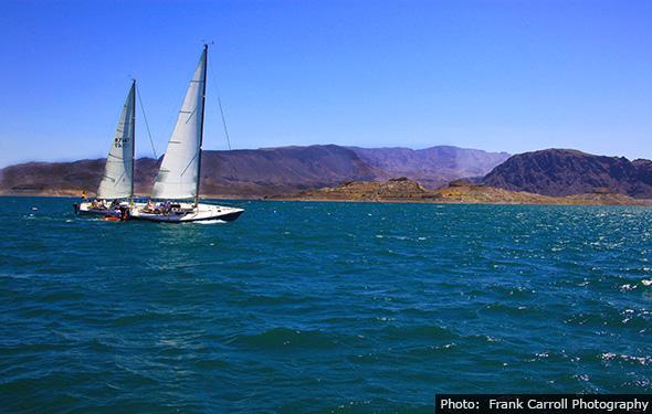 Frank Carroll - Sailing on Lake Mead near Boulder City, Nevada