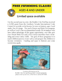 Boulder City Toddler Swim Class 2011