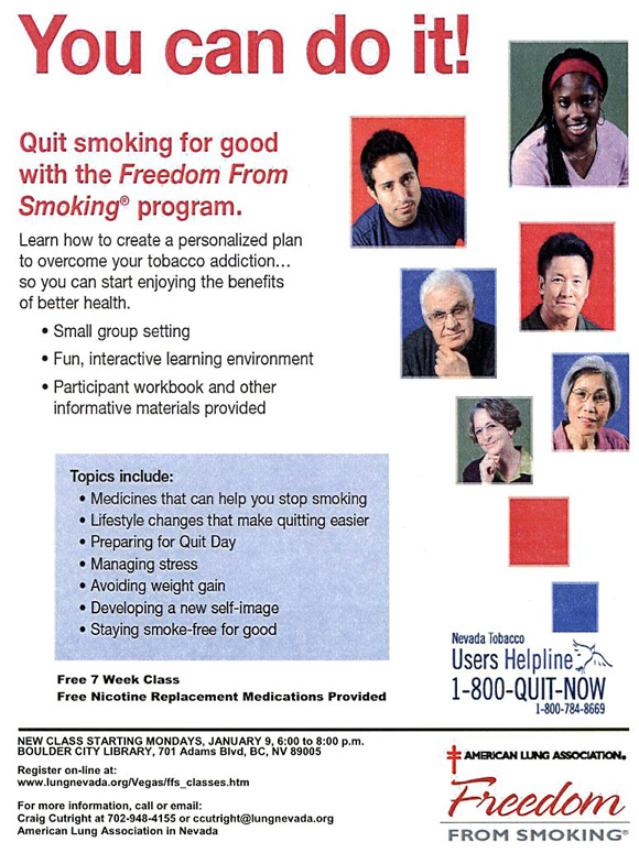 Freedom from Smoking in Boulder City, NV