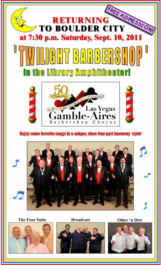 Gamble-Aires Barbershop Chorus in Boulder City, NV