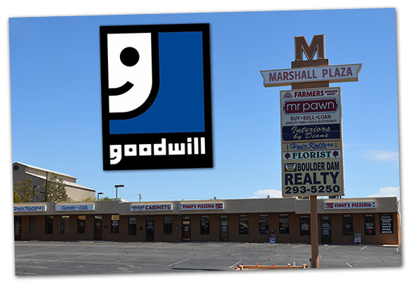 Goodwill Truck Moving to Marshall Plaza in Boulder City, Nevada