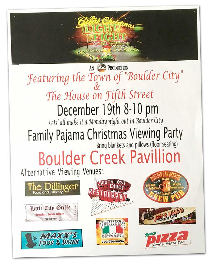 Great Light Fight Flyer for Boulder City, Nevada