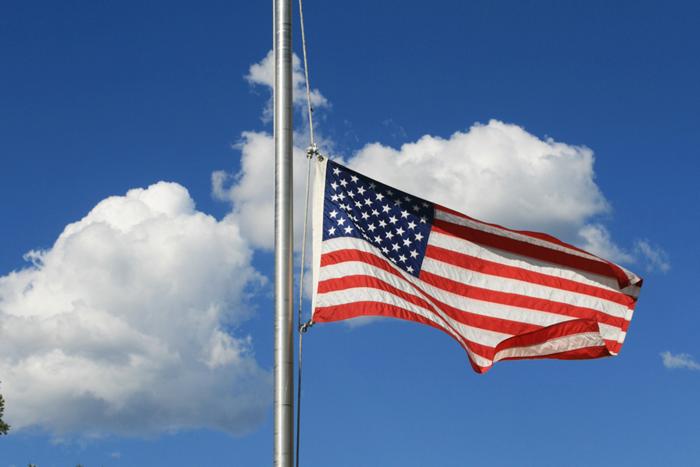 Half Mast Flag Day in Boulder City, NV