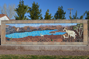 Hemenway Vista Mosaic in Boulder City, Nevada