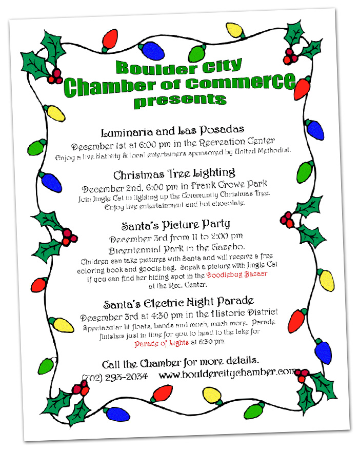 2016 Holiday Events in Boulder City, Nevada