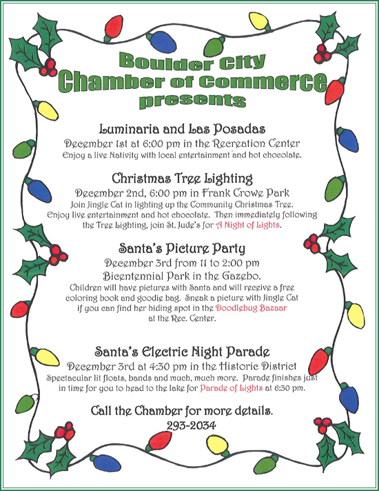 Holiday Events in Boulder City Flyer