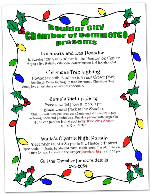 Holiday Events for 2012 in Boulder City, Nevada