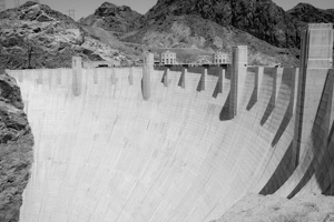 Hoover Dam in Black and White near Boulder City, Nevada