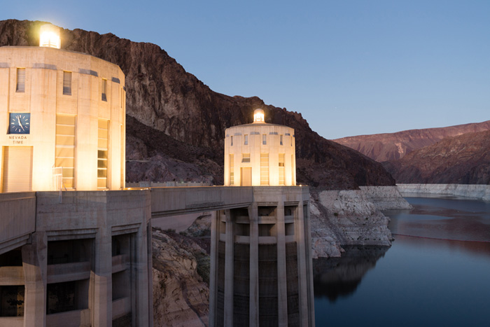 Hoover Dam Intake Towers Near Boulder City, Nevada