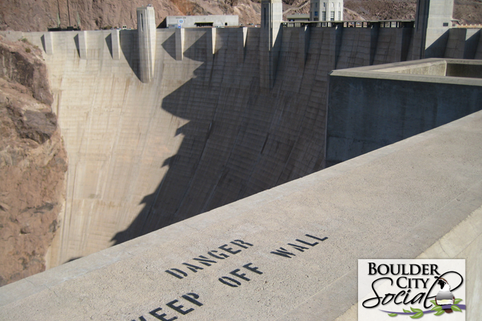Hoover Dam Keep Off Wall Sign