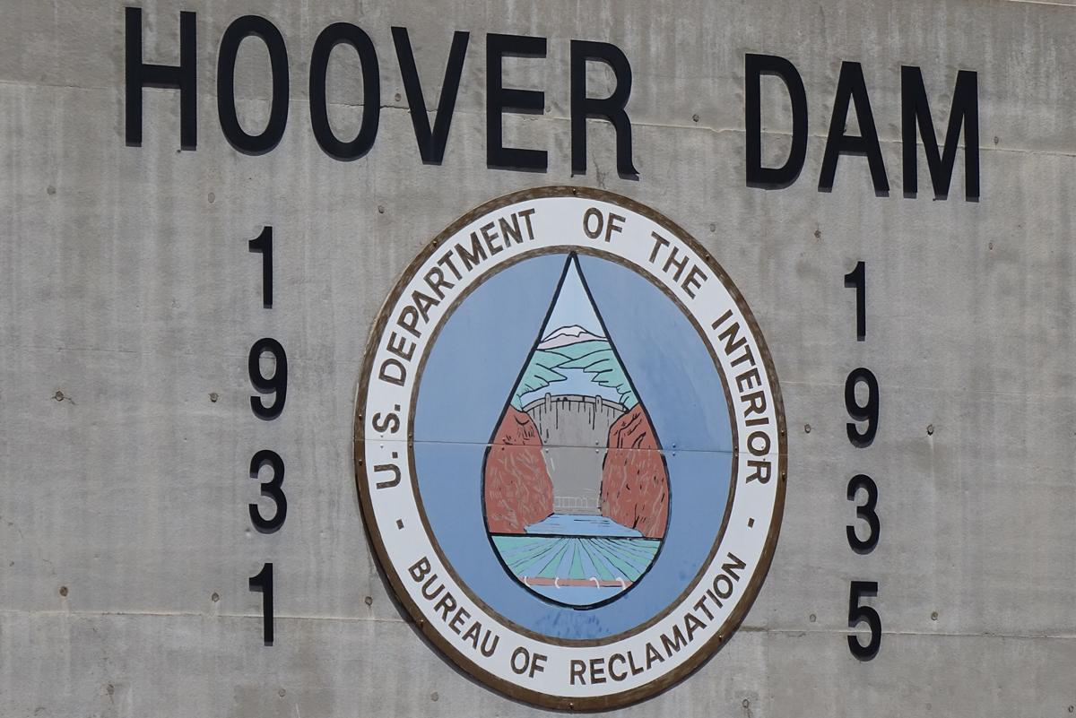 Hoover Dam Sign Near Boulder City, Nevada