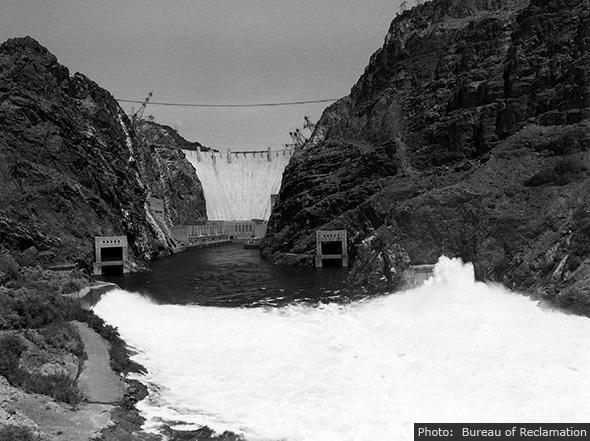 Hoover Dam Spillway near Boulder City, Nevada