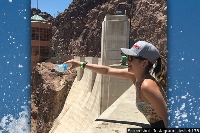 Hoover Dam Water Pour Flows Up Video