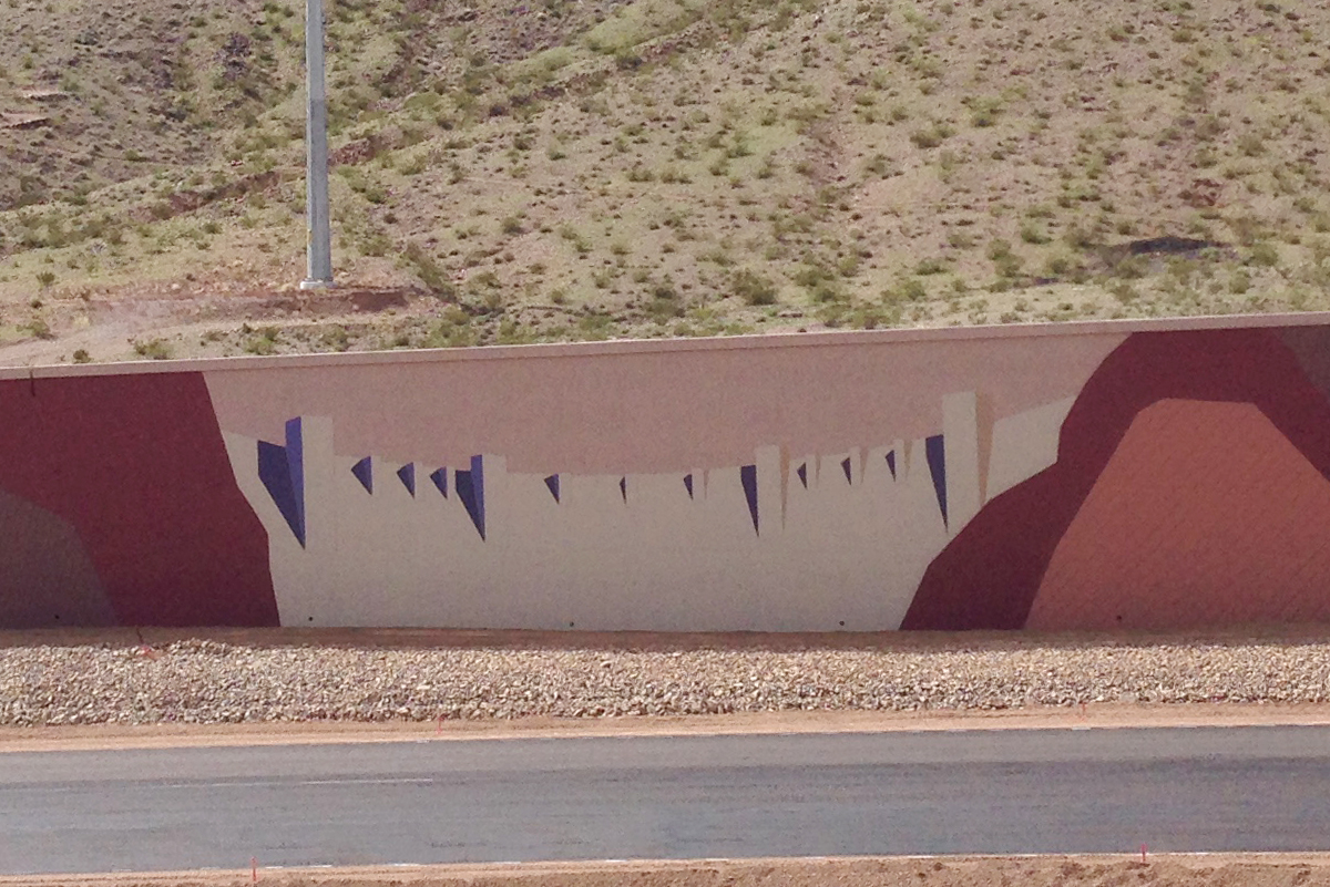 Interstate 11 Dam Artwork Near Boulder City, Nevada