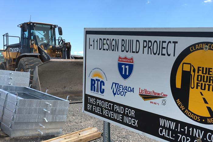 Interstate 11 Design Build Project Near Boulder City, Nevada