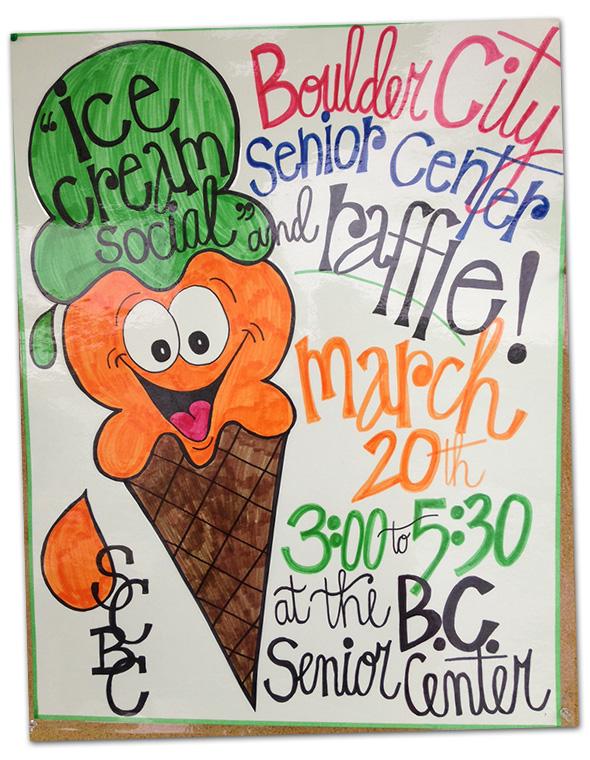 Ice Cream Social at Boulder City, NV Senior Center