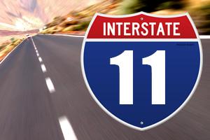 Interstate11 Sign - Boulder City, Nevada Bypass