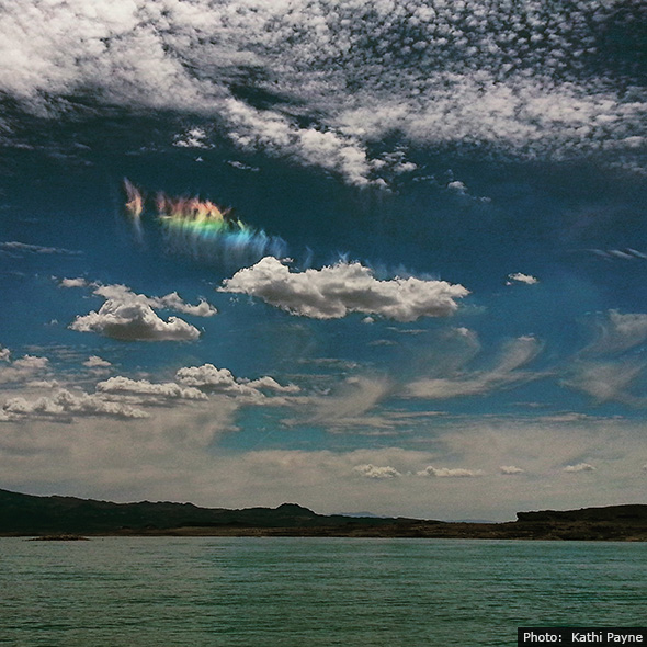 Iridescent Clouds near Boulder City, Nevada