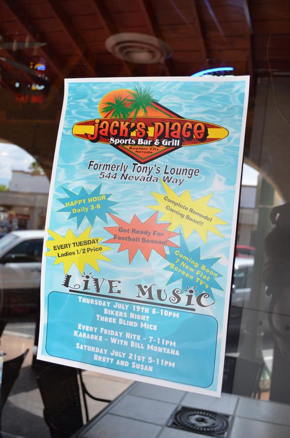Jack's Place in Boulder City, NV