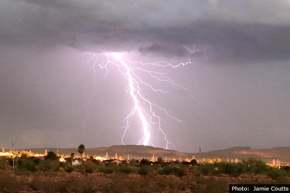 Jamie Coutts Lightning in Boulder City, Nevada