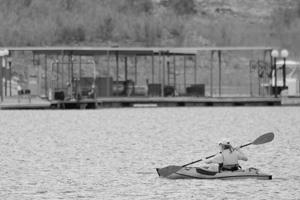 Lake Mead Kayaker near Boulder City, Nevada