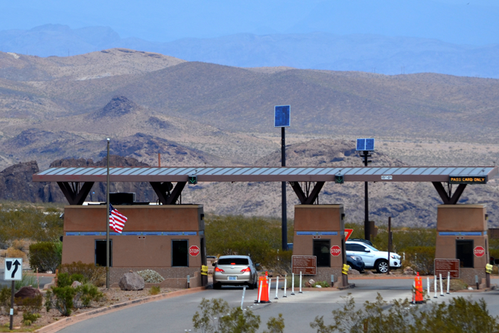 Lake Mead NRA Entry Booth near Boulder City, NV