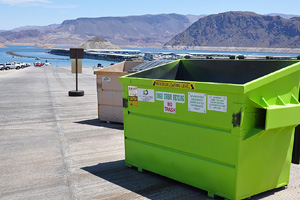 Recycling at Lake Mead Recreation Area Near Boulder City, Nevada