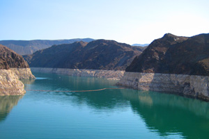 Lake Mead Water Levels near Boulder City, Nevada