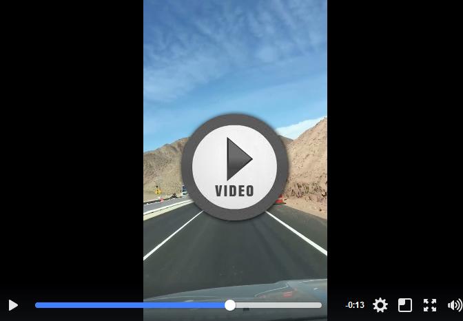 Lane Shift near Boulder City, Nevada