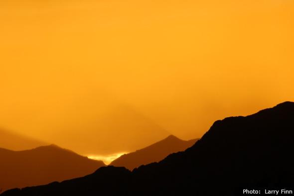 Sunset in Boulder City, Nevada by Larry Finn