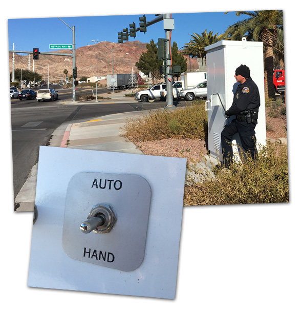 Manual Traffic Signal in Boulder City, Nevada
