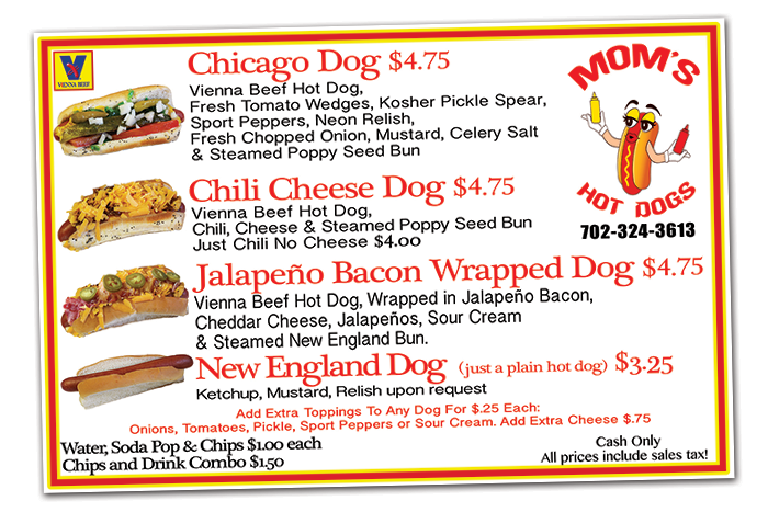 Mom's Hot Dogs in Boulder City, Nevada
