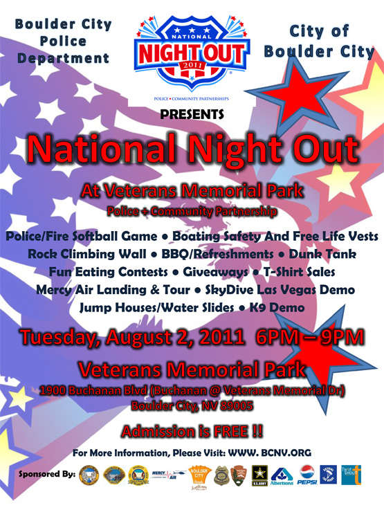 National Night Out in Boulder City, Nevada Flyer
