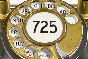 New Area Code 725 for Boulder City, Nevada