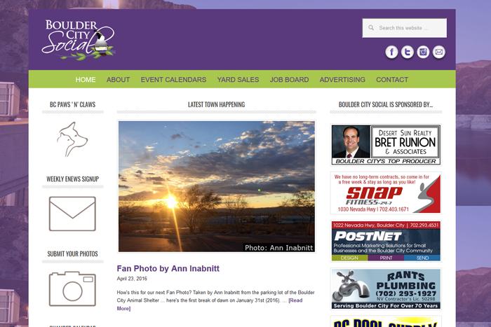 New Boulder City Social Website