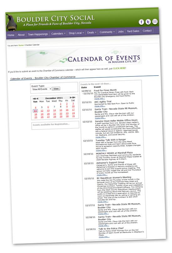 New Chamber of Commerce Calendar