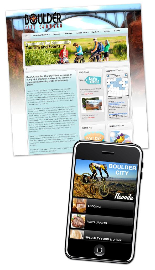 Boulder City Chamber Website and App
