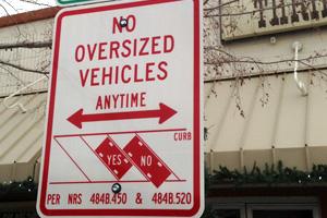 Oversized Vehicle Parking Plan in Boulder City, Nevada