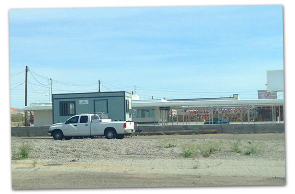 oReilly Auto Parts Construction Trailer in Boulder City, Nevada