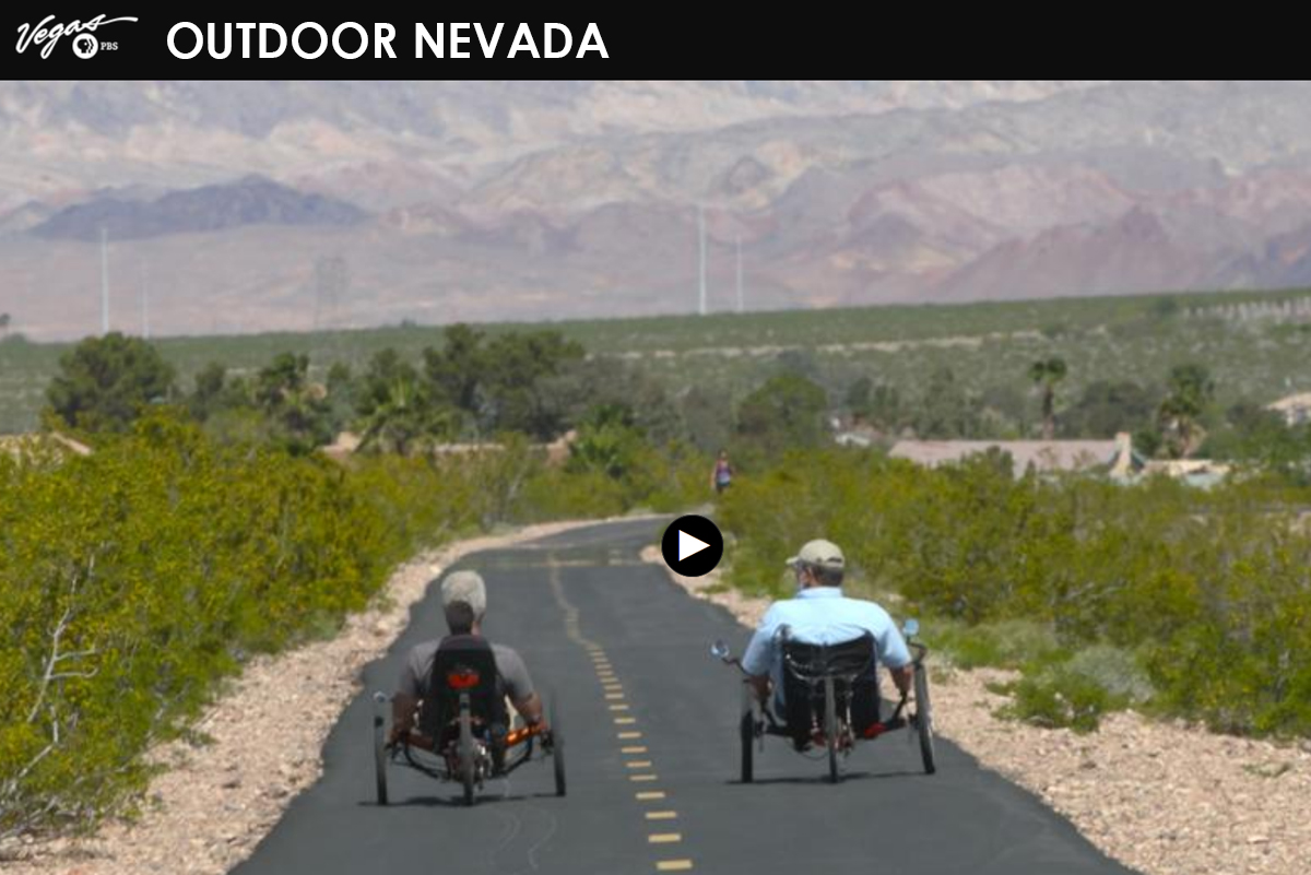 Outdoor Nevada River Mountains Loop Trail in Boulder City, Nevada