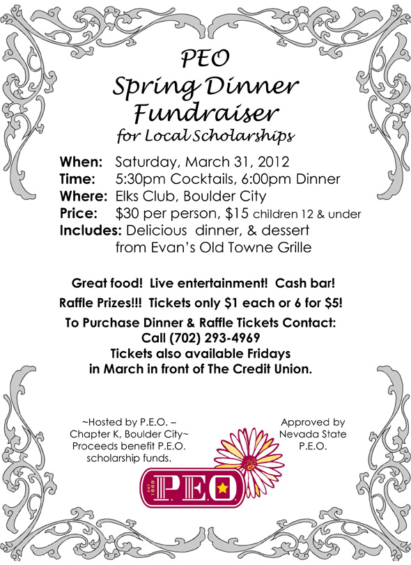 PEO Spring Fundraiser 2012