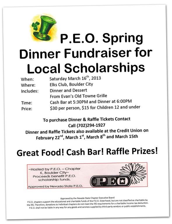 PEO Spring Fundraiser in Boulder City, Nevada