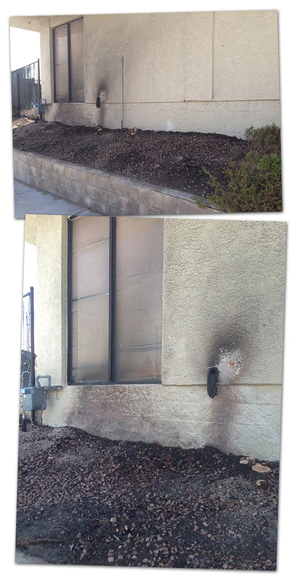 Fire Behind Pit Stop in Boulder City, NV