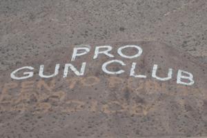 Pro Gun Club Sign in Boulder City, Nevada