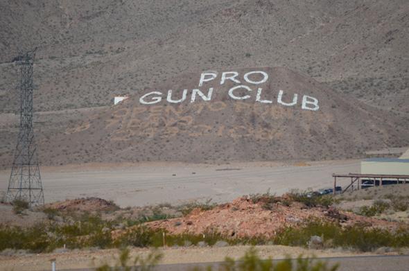 Pro Gun Club Sign Outside Boulder City, Nevada